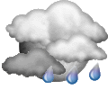 :  Mostly cloudy and cooler. Precipitation possible within 12 hours, possibly heavy at times. Windy.